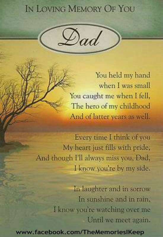 In Loving Memory of You Dad